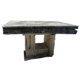 Antique Stone Book Garden Table