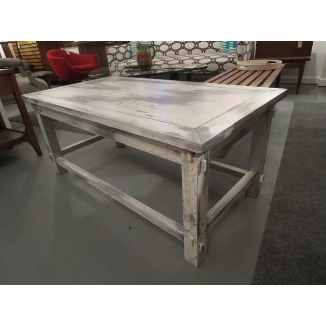 Grey White Distressed Vintage Wood Coffee Table Chairish