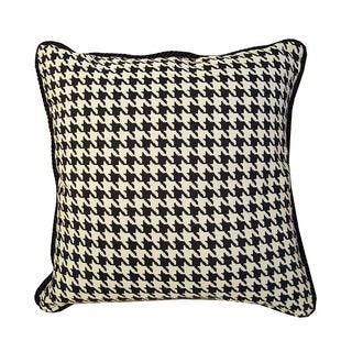 Black and White Houndstooth Down Pillow