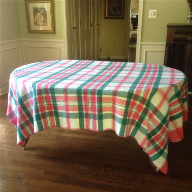Vintage Plaid Picnic/Gameday Blanket - Image 6 of 11