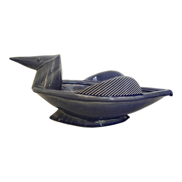 Image of Ceramic Modernist Bird Decorative Bowl