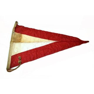 Vintage Naval Signal Flag Pennant