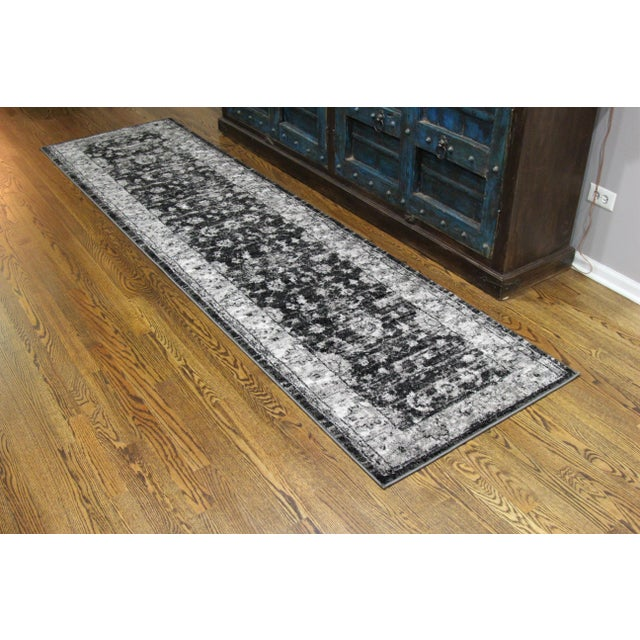 "Vintage Style Distressed Gray Runner- 2'8"" x 10' - Image 6 of 6"