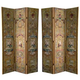 Renaissance Revival Style Screens - Pair