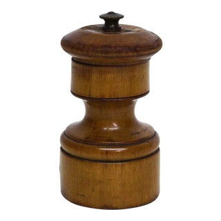 Imported Wood Round Pepper Mill