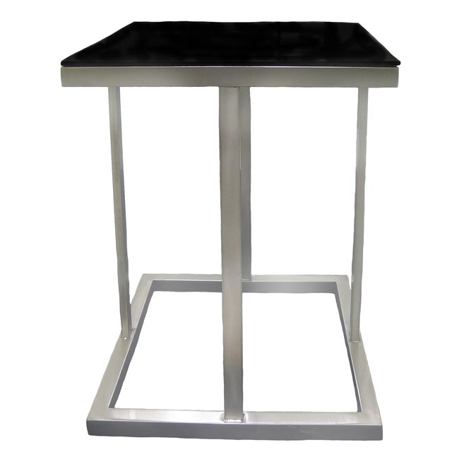 Image of Metal & Glass Side Table