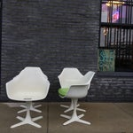 Image of Saarinen Style Tulip Dining Set by Burke