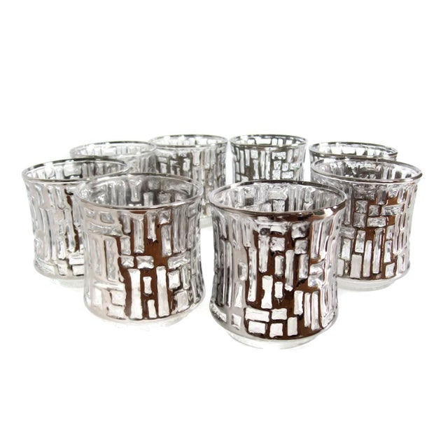 Mid-Century Artica Lowball Glasses, Silver Bamboo - Image 2 of 7