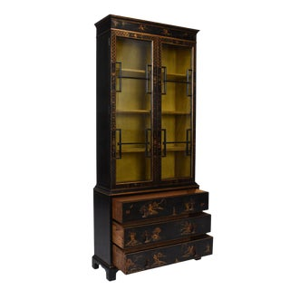 English Chinoiserie Display Cabinet