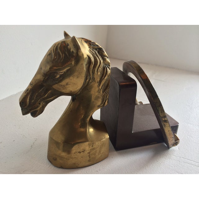 Equestrian Horseshoe Brass Bookends - 2 - Image 4 of 6