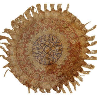 Antique Turkish Kayseri Silk Round Rug- 4′2″ × 4′2″