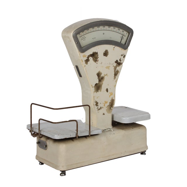 Vintage White General Store Scale - Image 2 of 4
