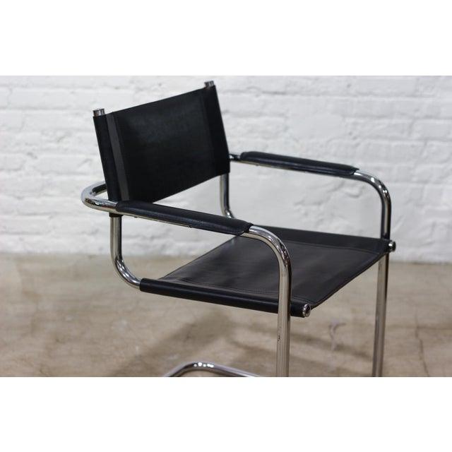 Tubular Chrome Cantilever Chair - Image 4 of 5