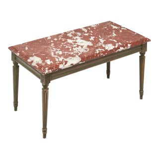 """Rouge Royal"" Marble-Topped Louis XVI Style Coffee Table"