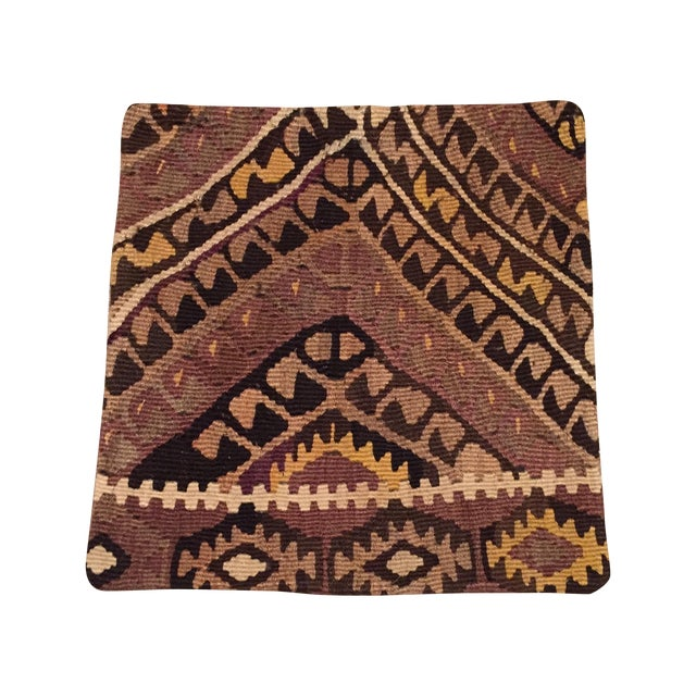 Image of Vintage Brown Kilim Pillow Case