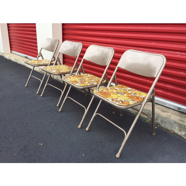 Image of Samsonite Folding Chairs with Vinyl - Set of Four
