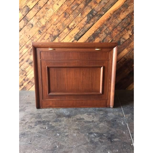Mid Century Expanding Cabinet Dining Table Chairish