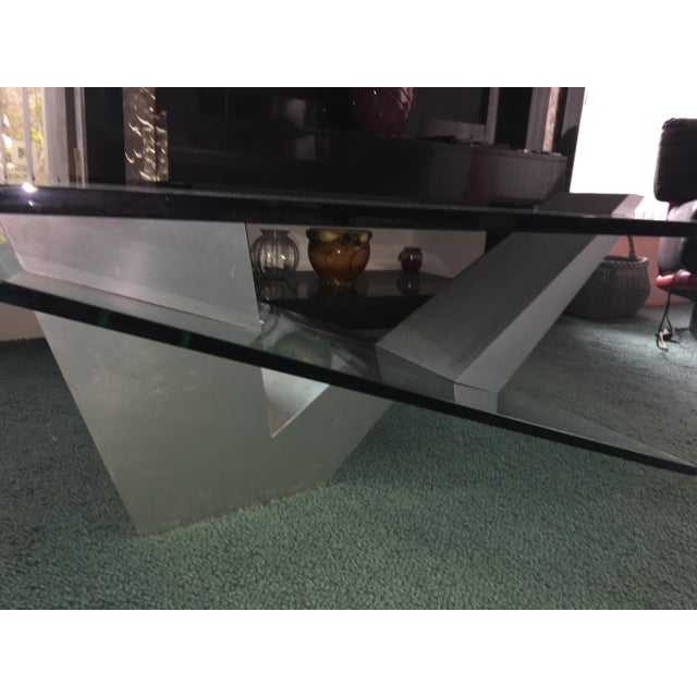 Stainless Steel Coffee Table: Contemporary Glass-Stainless Steel Coffee Table