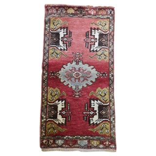 Antique Turkish Oushak Rug - 1′9″ × 3′4″