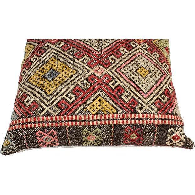 Vintage Turkish Kilim Floor Pillows - A Pair - Image 6 of 6