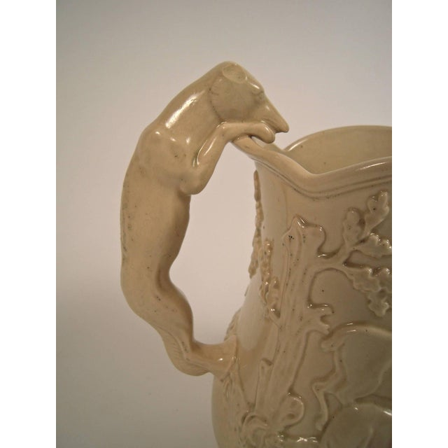 Large 19th Century American Stag and Doe Pitcher with Hound Dog Handle - Image 4 of 8