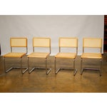 Image of Marcel Breuer Style Chrome & Cane Chairs - S/4
