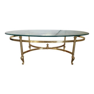La Barge Brass & Glass Coffee Table