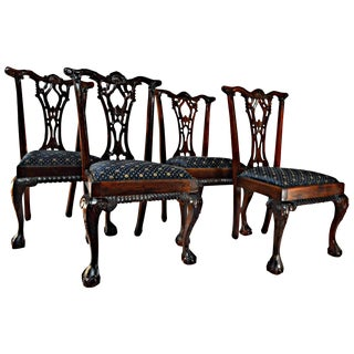 Chippendale Mahogany Dining Chairs - Set of 4