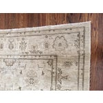Image of Hand Knotted Wool Oriental Neutral Rug - 8′ × 9′4″