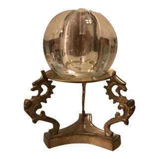 Mid-Century Brass Stand and Oil Burner Sphere