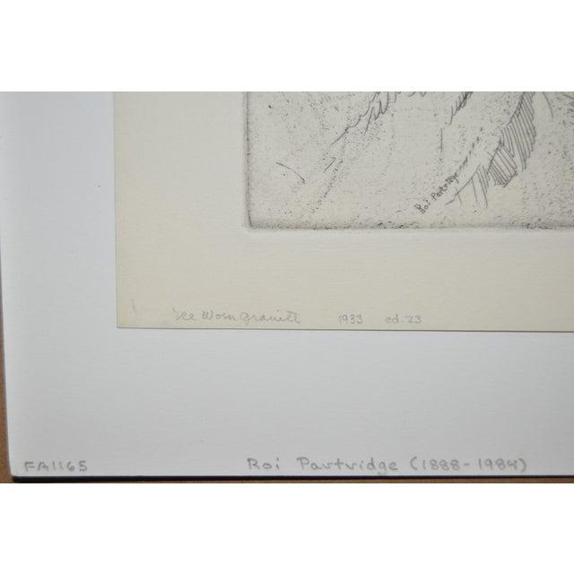 """""""Ice Worn Granite"""" Vintage Etching by Roi Partridge - Image 3 of 6"""