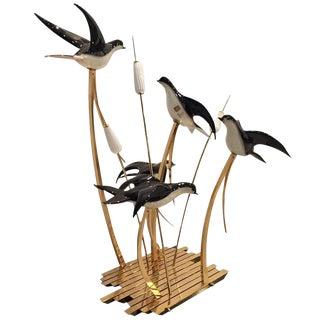 Rare Licio Zanetti Signed Murano Italian Vetri Art Glass Birds Sculpture