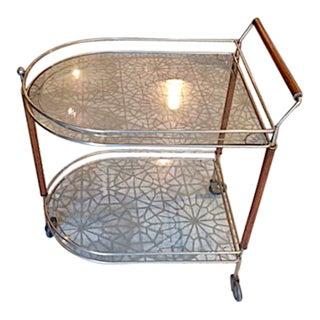 Glass & Wood Bar Cart