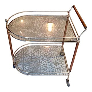 Glass & Wood Bar Cart
