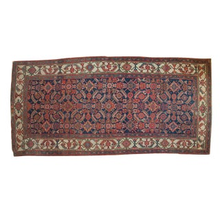 "Antique Hamadan Rug Runner - 4'9"" x 9'11"""