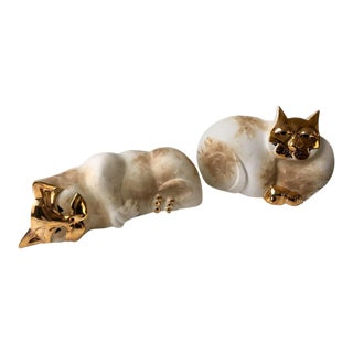 Pelletier Modern Cat Sculptures - A Pair