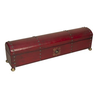 Sarreid LTD Red Leather Telescope Box