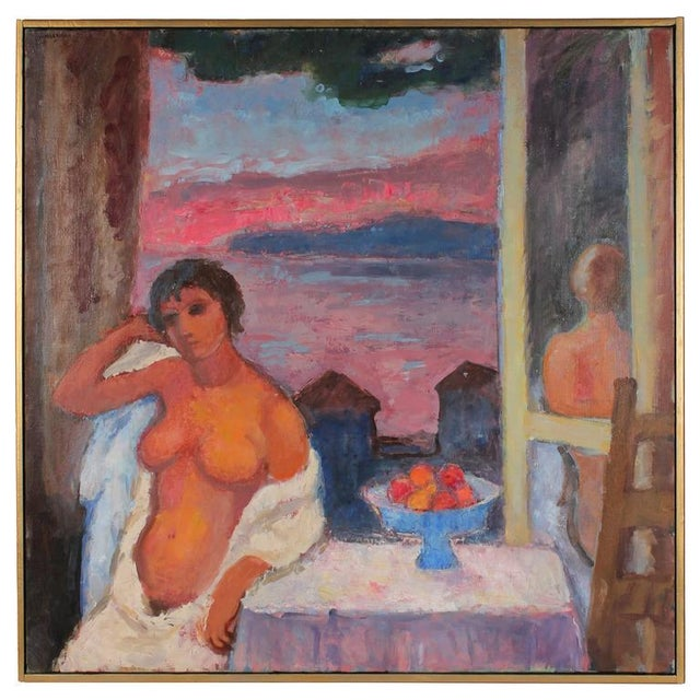 "Gerald Wasserman ""Cannery Row Nude"" Sunset Landscape - Image 2 of 3"