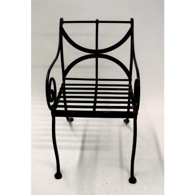 1980s Spanish Metal Armchair - Image 3 of 7