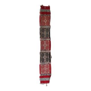 Black, White & Red Vintage Quilt Fragment
