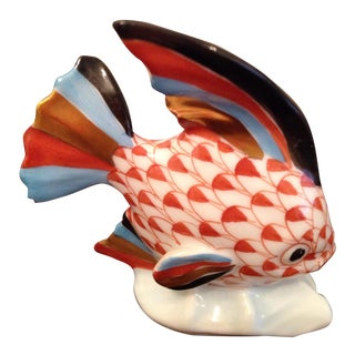 Herend Porcelain Fish Figurine