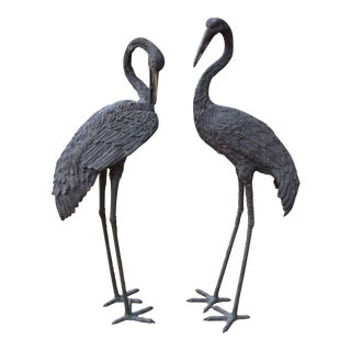 Monumental Bronze Cranes