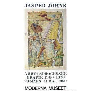 """Jasper Johns """"Works in Progress"""" 1980 Poster"""