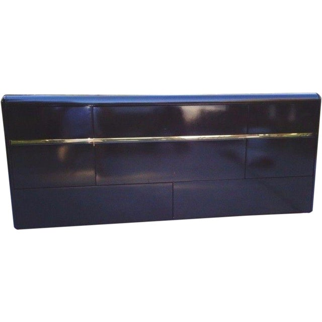 Lane Black Lacquer Hollywood 1987 Chest - Image 1 of 11