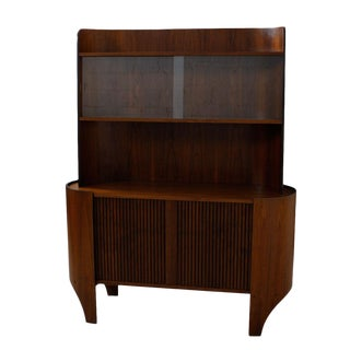 Bentwood Display / Bar Cabinet with Tambour Door