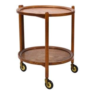 Danish Teak Collapsable Serving Cart