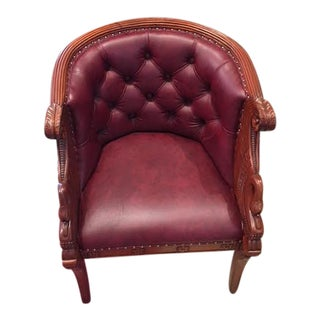 Italian Barrel Back Chair