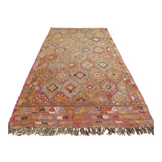 Vintage Turkish Kilim Rug - 5′7″ × 10′6″