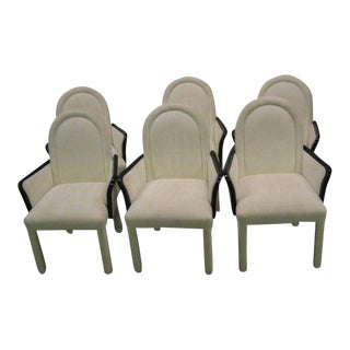 Mid-Century Black LAcquer Dining Chairs - Set of 6