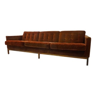 Vintage Florence Knoll Rosewood Base & Mohair Sofa